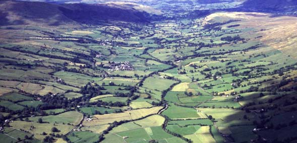 An aerial view of Dentdale